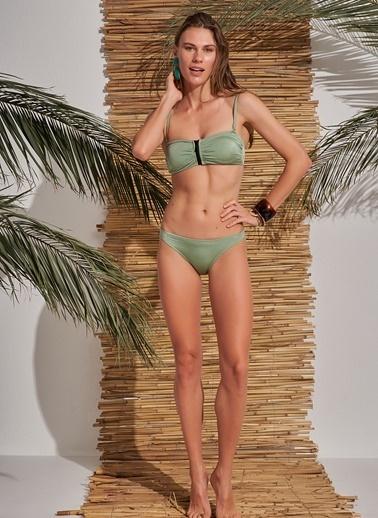 Morhipo Beach Fermuar Detaylı Bikini Yeşil